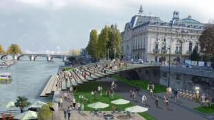Так будет выглядеть набережная Сены перед музеем Д'Орсе.