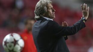 Treinador da equipa de Futebol do Sport Lisboa e Benfica, Jorge Jesus