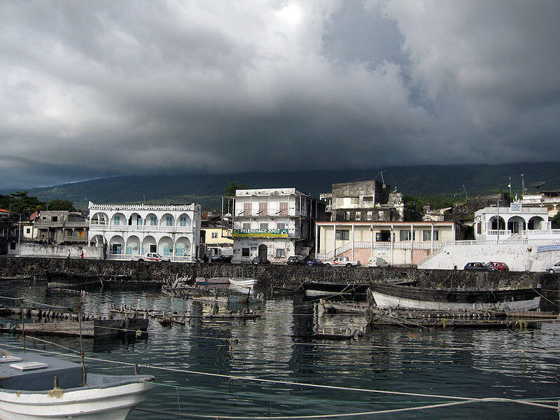 Port de Moroni, Comores.