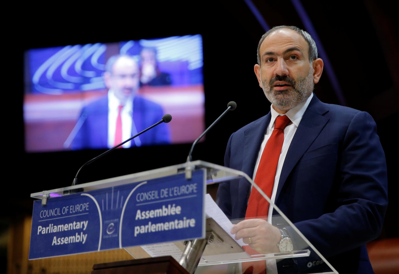 Никол Пашинян на заседании ПАСЕ в Страсбурге, 11 апреля 2019