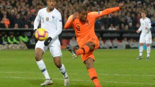 Georginio Wijnaldum scored Netherlands' first goal against France.