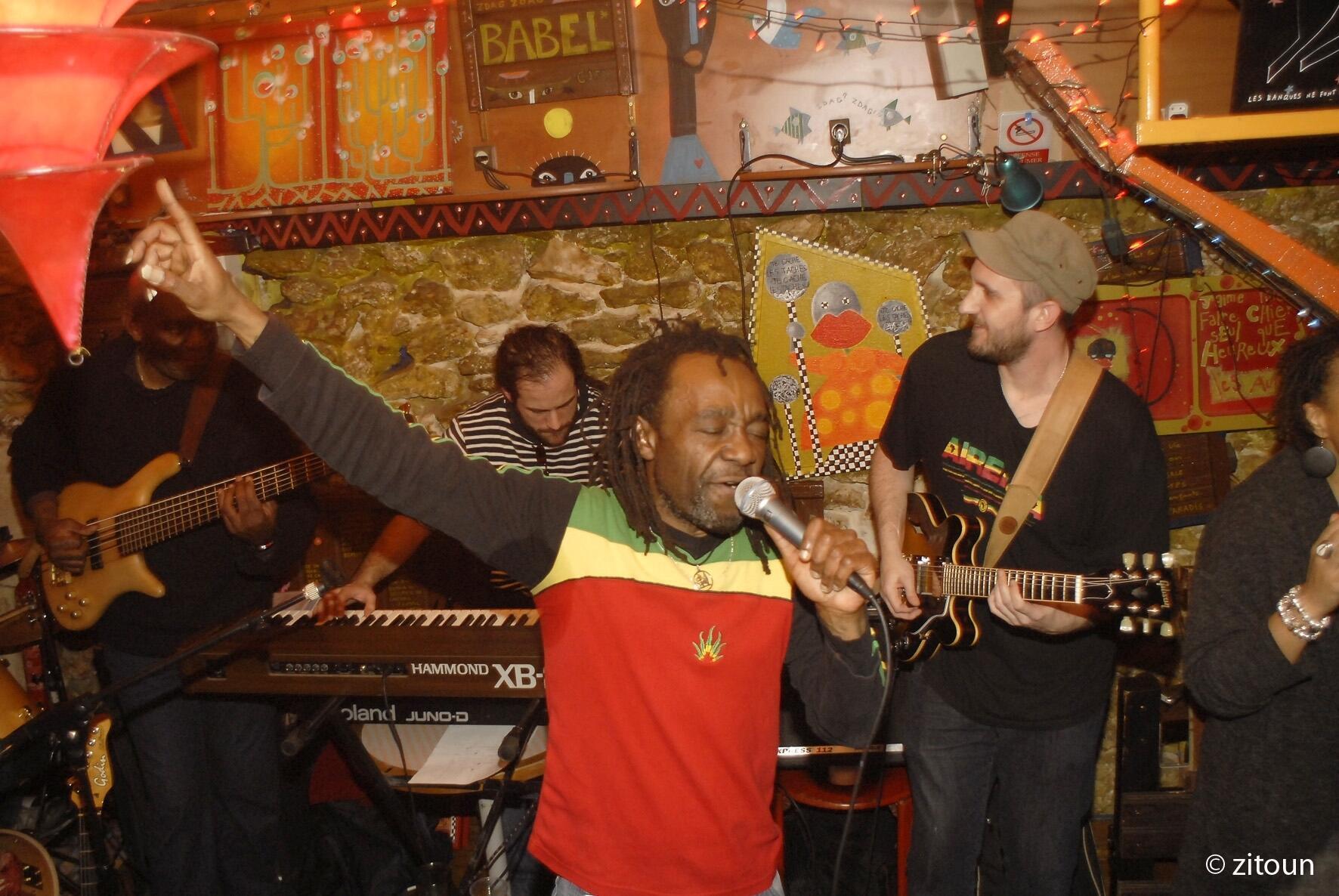 The Baco Hiriz Band performing in Paris.