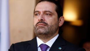 Le Premier ministre démissionnaire libanais Saad Hariri, le 24 octobre dernier à Beyrouth.