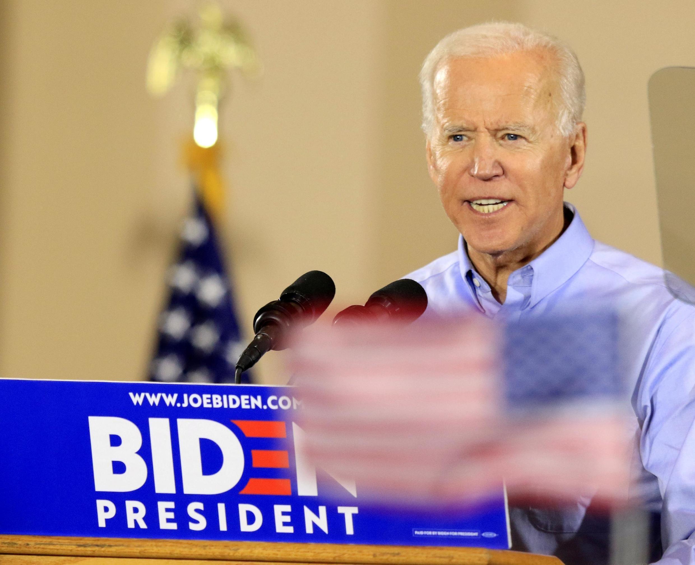 O ex-vice presidente Joe Biden lança sua campanha para as eleições americanas de 2020 em um ato com sindicalistas em Pittsburgh.