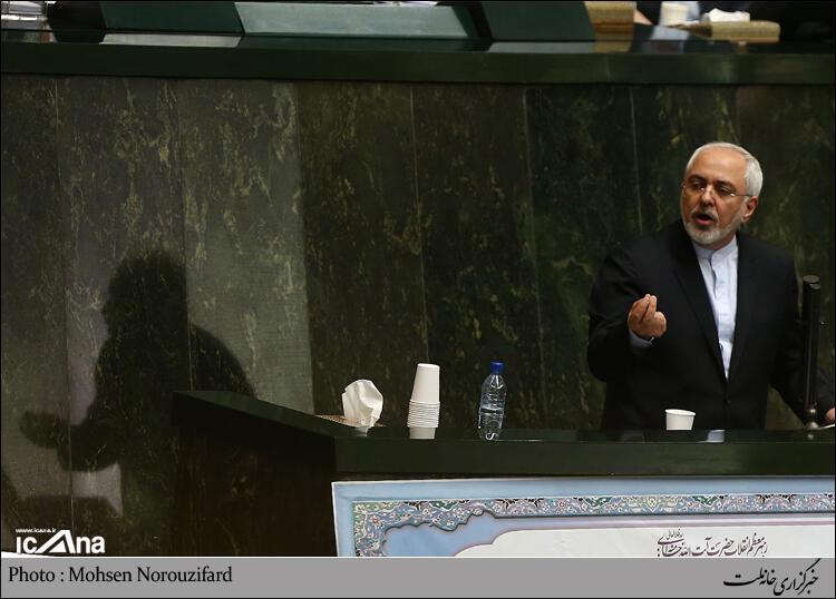 جواد ظریف در مجلس ایران