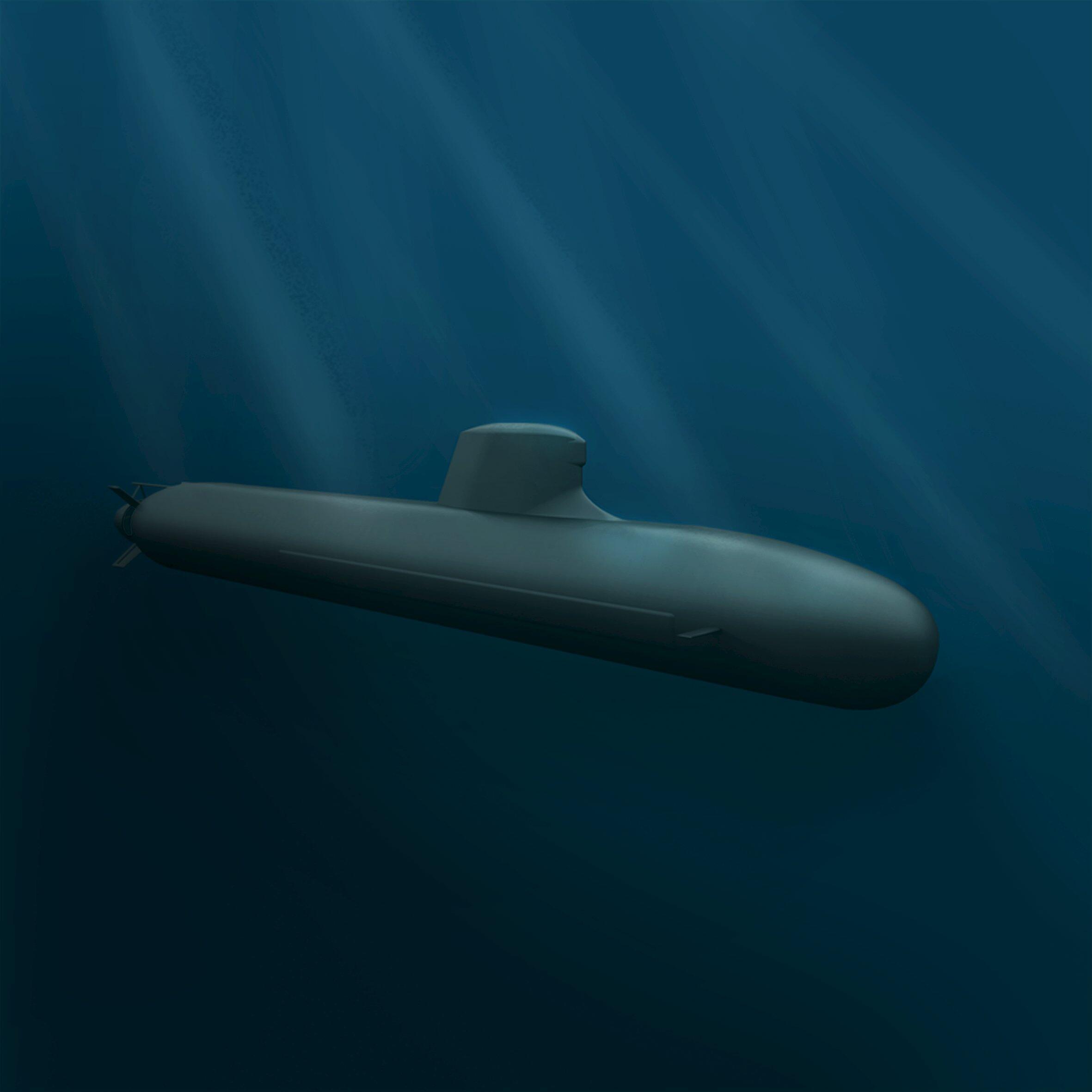 Tầu ngầm Barracuda, do hãng DCNS Pháp thiết kế riêng cho Hải quân Hoàng gia Úc.