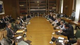 Чрезвычайное заседание кабинета министров Греции 08/11/2011