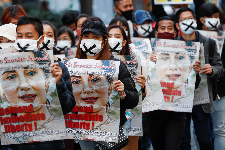 Japon - Birmanie - Tokyo 2021-02-14T045223Z_321189561_RC24SL9PA9YX_RTRMADP_3_MYANMAR-POLITICS-JAPAN