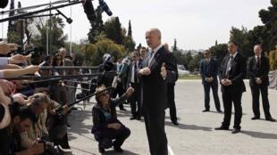 Глава МИД Великобритании Уильям Хейг во время встерчи министров иностранных дел в Афинах 04/04/2014