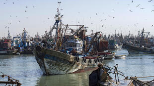 In this file photo, a fishing boat enters the harbour of Laayoune, in the Moroccan-controlled Western Sahara