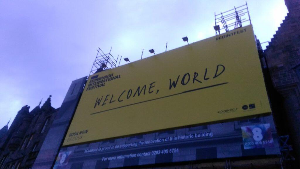 A poster marking the International Fringe Festival in Scotland
