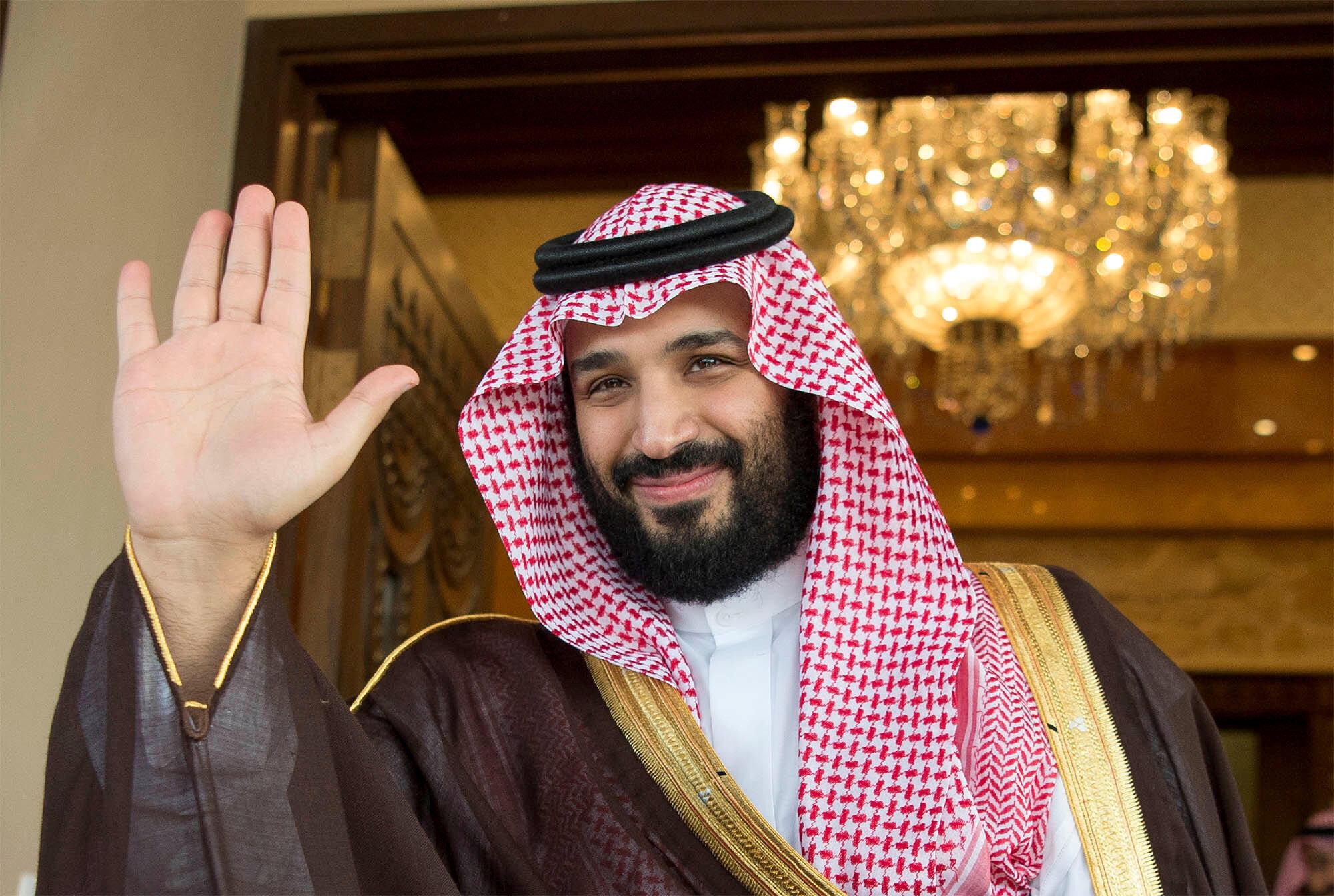 An dai gano Muhammad Bin Salman cike da murmushi yana daukar hoto da mahalarta taron duk kuwa da dambarwar kisan Jamal Kashoggi da ake yi kansa.