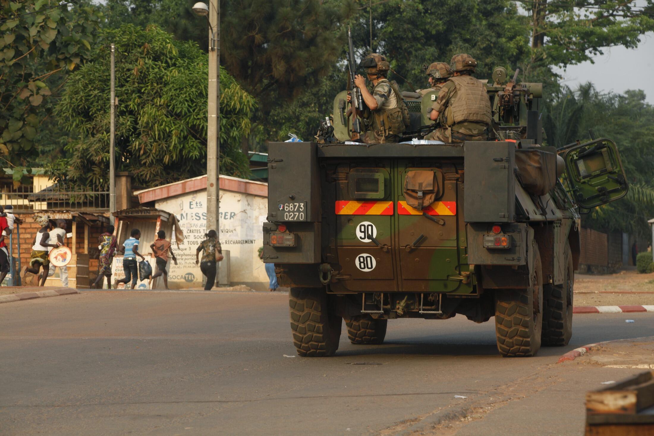 """Contigente francês da """"Operação Sangari"""" na República Centro-Africana."""