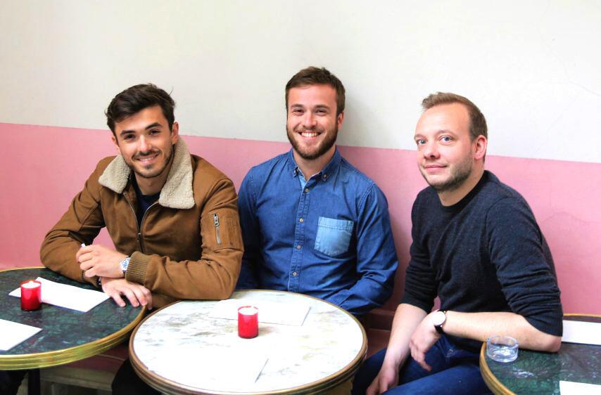 Nicolas Boisseleau, Arnaud Bonet và Pierre Della Monica, 3 thành viên của nhóm Bon Entendeur
