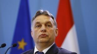 Le Premier ministre hongrois Viktor Orban, le 19 février 2015, à Varsovie, en Pologne.