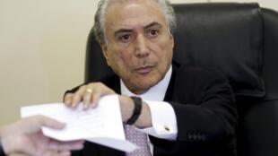 O vice-presidente brasileiro Michel Temer termina sua viagem oficial a Portugal.