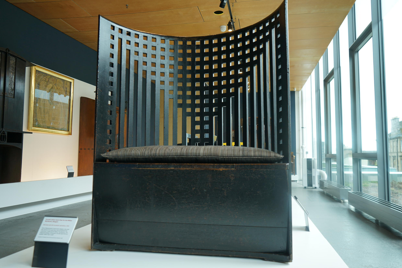 Cadeira de Mackintosh na Escola de Artes de Glasgow, 2017.