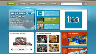 Capture d'écran du site internet de MED MED : «Mediterranean Memory».