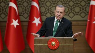 Президент Турции Реджеп Тайип Эрдоган, 22 августа 2017.
