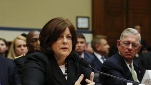 La directrice du Secret Service, Julia Pierson, devant le Congrès, mardi 30 septembre 2014.