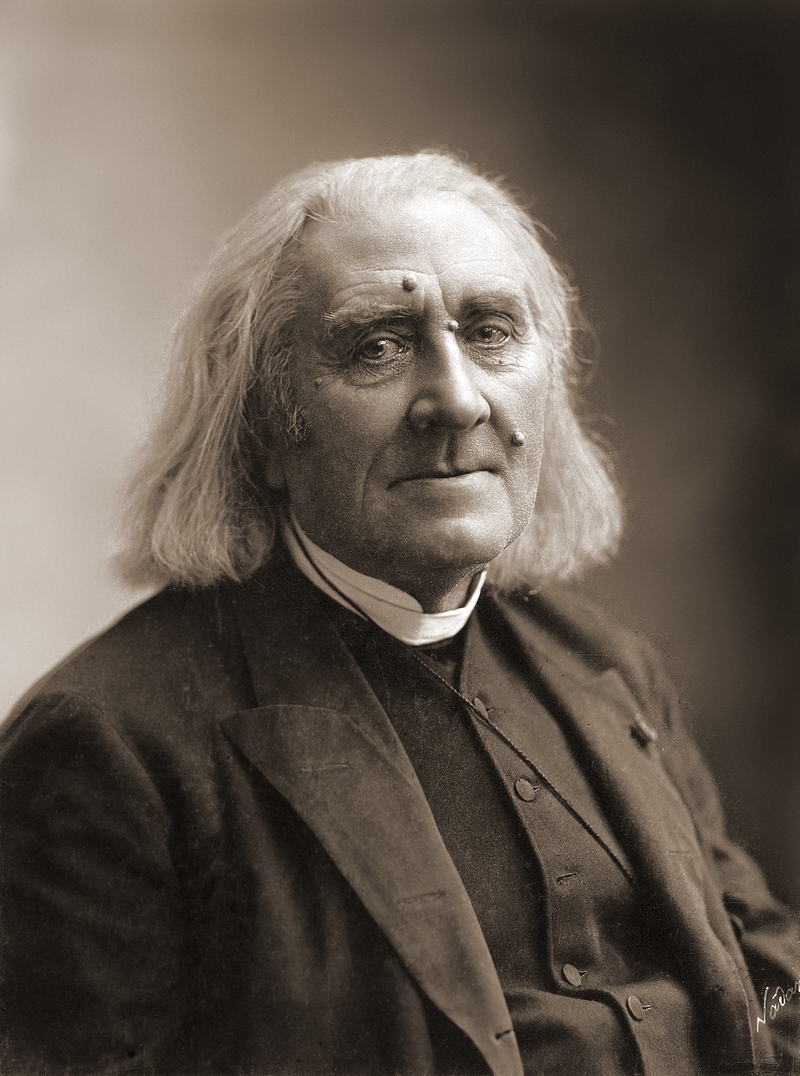 Ảnh Franz Liszt do Felix Nadar chụp tháng 03/1886.