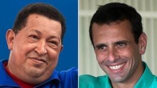 Hugo Chávez y Henrique Capriles se enfrentan este domingo 7 de octubre por la presidencia de Venezuela.