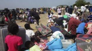 南苏丹战乱造成大量居民流离失所