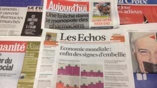 Primeiras páginas diários franceses 20/12/2013