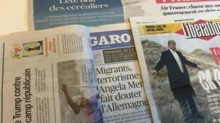 Primeiras páginas dos jornais franceses de 10 de julho de 2016