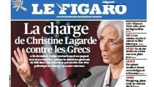 """""""Eles deveriam se ajudar mutualmente pagando seus impostos"""", disse Christine Lagarde ao criticar os gregos."""