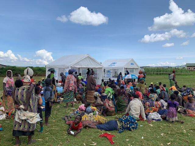 Des réfugiés rwandais dans le camp de Nyamunyunyi, en RDC, décembre 2019.