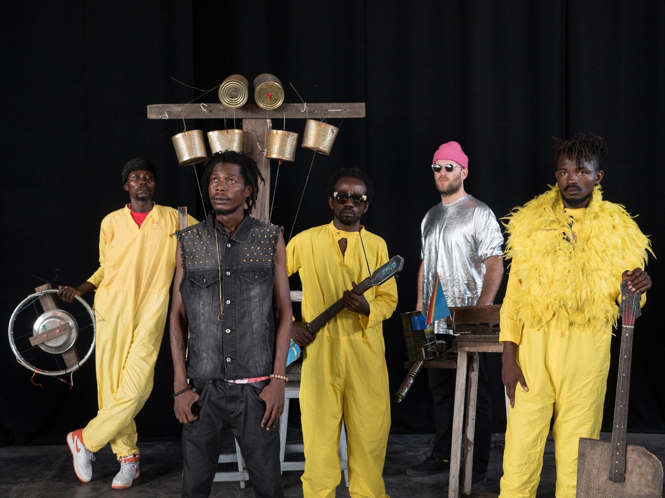 Le groupe Kokoko ! en tournée.