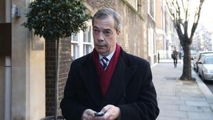 Nigel Farage, leader Ukip,  (UK Independance Party).