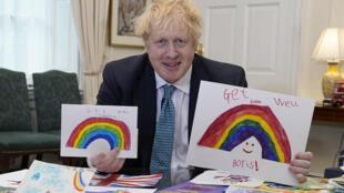 El primer ministro Boris Johnson, en Londres el 28 de abril de 2020