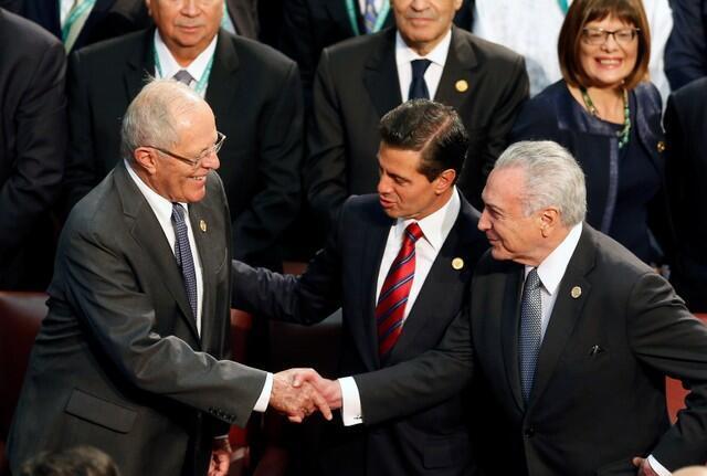 主辦國巴西總統米歇爾·特梅爾主持開幕式