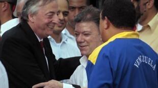 El  fallecido ex presidente argentino Nestro Kirchner, en Santa Marta, Colombia, el 10 de agosto de 2010.