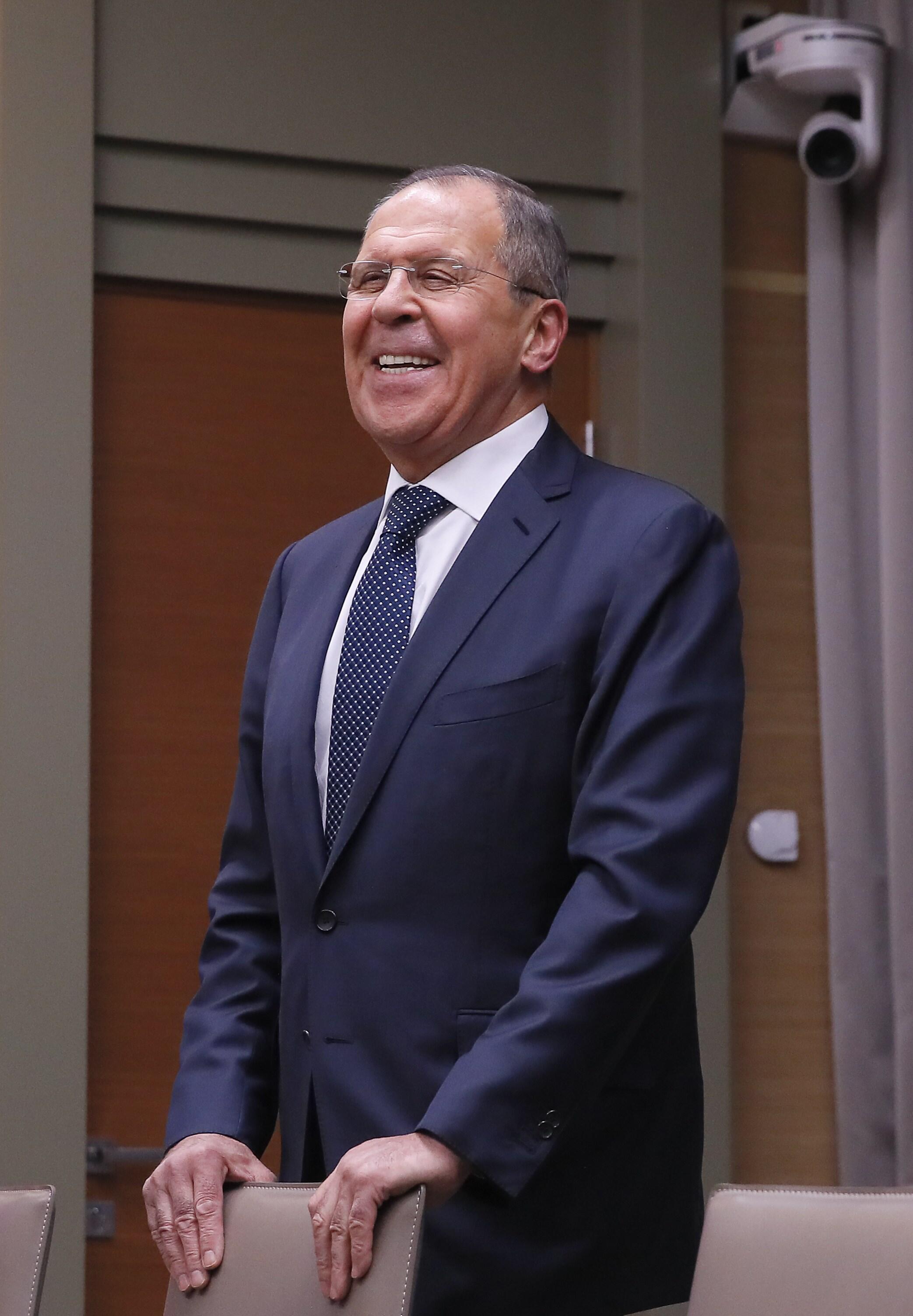 Глава МИД РФ Сергей Лавров. 31 января 2018 г.