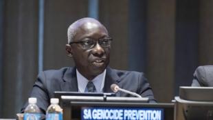 Adama Dieng, le conseiller spécial du secrétaire général de l'ONU pour la prévention des génocides, à New York, en 2016.