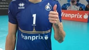 Nuno Pinheiro, jogador do clube Paris Volley