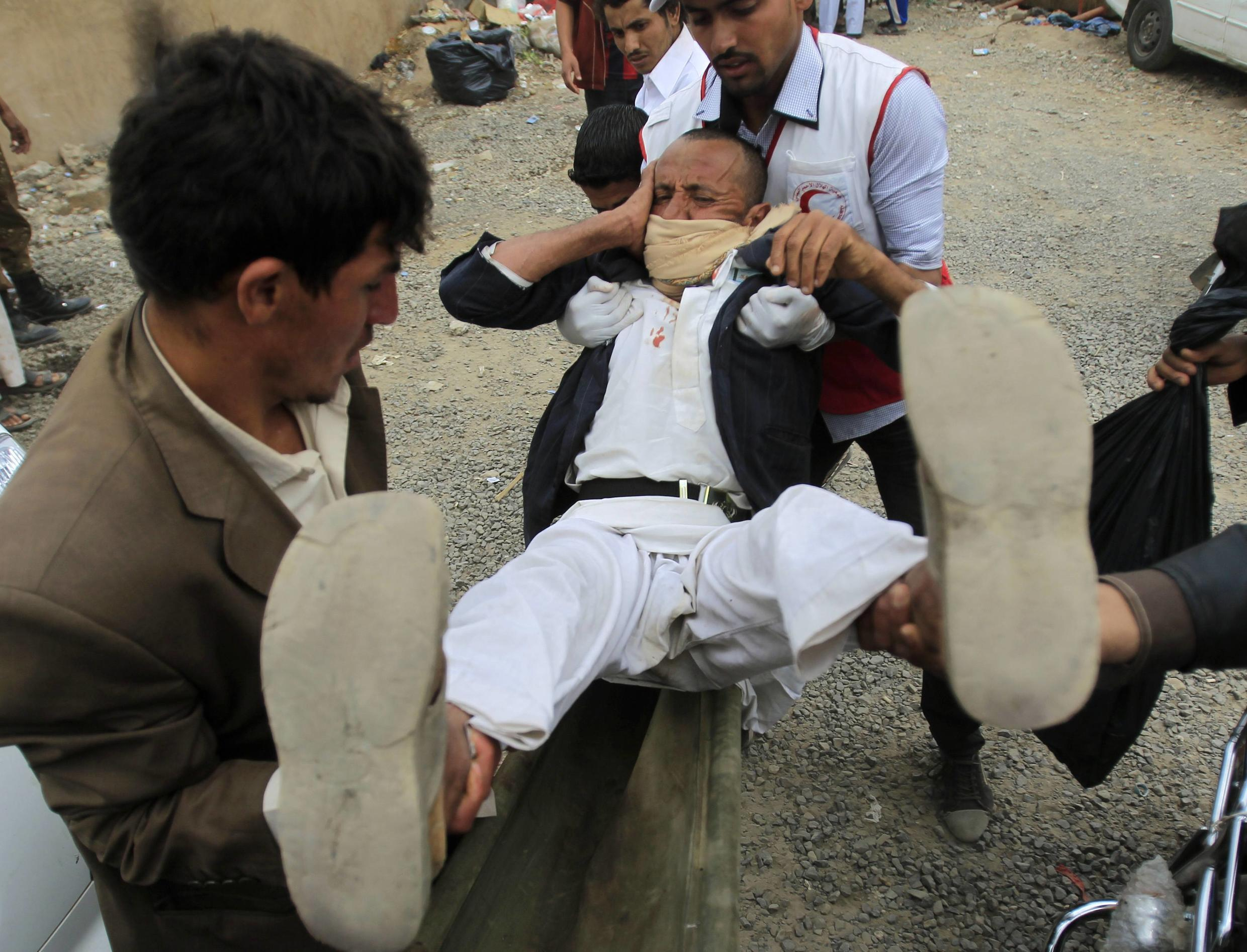 At least five people killed when gunmen fired on Yemeni protesters in Sanaa, Thursday
