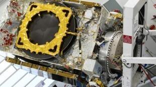Un satellite de Thales Alenia Space, l'entreprise dans laquelle travaille Sabrina Andiappane, en construction.