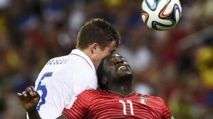 Éder, internacional português, durante o Mundial de 2014 que decorreu no Brasil. Imagem de Arquivo.