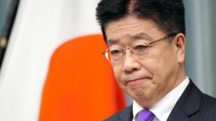 日本內閣官房長官加藤勝信資料圖片