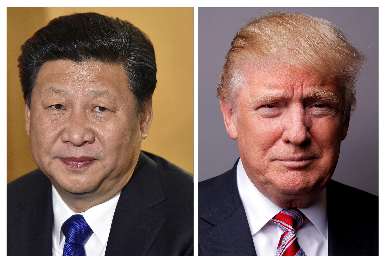 Chủ tịch Tập Cận Bình và tổng thống Donald Trump.