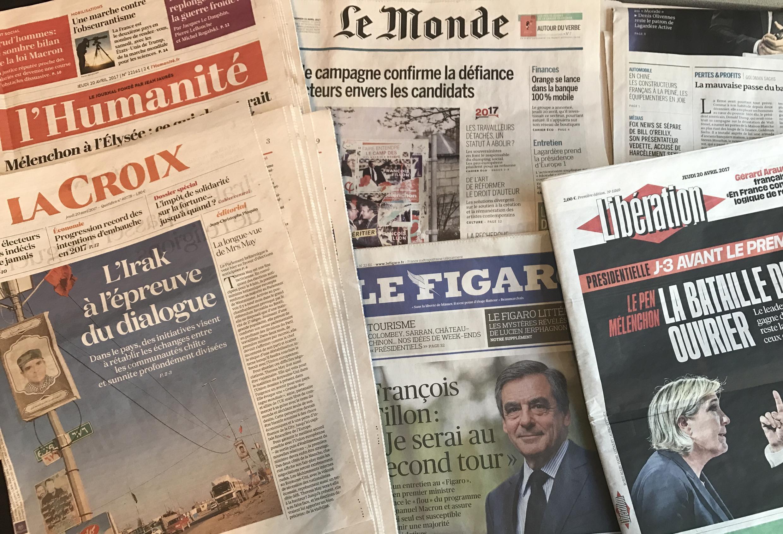 Capas dos diários franceses 20/04/2017