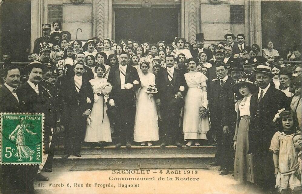 «Праздник розы» в парижском пригороде Баньоле, 1913 год.