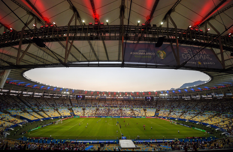 El Maracanà recibira para la final de la Copa América solo 7.000 espectadores de una capadiad de 77.000 personas.. Archivo 16 de junio , 2019