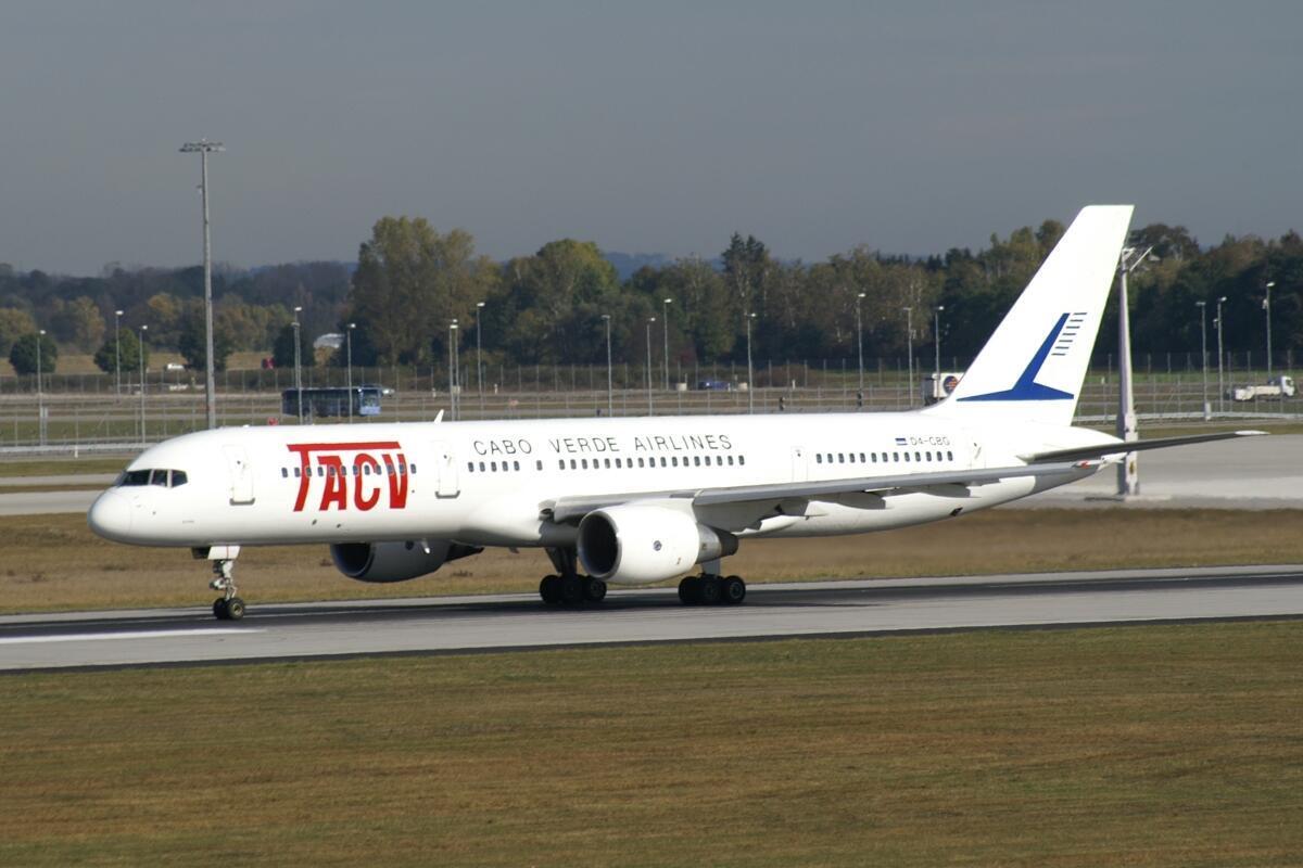 Avião dos Transportes Aéreos de Cabo Verde - TACV Cabo Verde Airlines