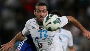 Mohamed Aboutrika sous les couleurs du Baniyas SC, le 17 mai 2013.