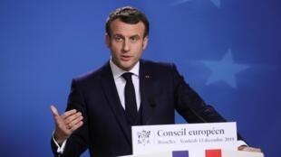 Эмманюэль Макрон на пресс-конференции по итогам саммита лидеров ЕС, Брюссель, 13 декабря 2019 г.